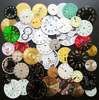 45pcs Lot of Steampunk Watch Faces Dials Parts for Jewelry Making Industrial Art