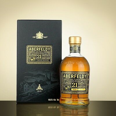 Aberfeldy 21 Year Old Single Malt Scotch Whisky 750ml (Limited Release)