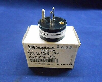 New In Box CUTLER-HAMMER 25PC2500 Rating Plug 2500AMP