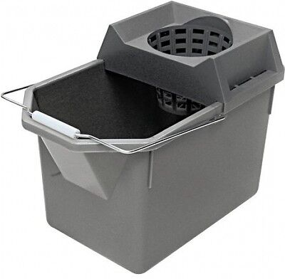 Rubbermaid Commercial Steel Gray Combination Pail/Strainer, 15 Qt