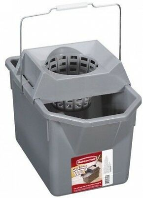 Rubbermaid: Mop Bucket With Ringer, 1 Ea