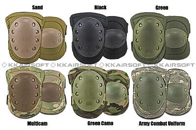 Militarty SWAT Tactical Paintball Airsoft Knee and Elbow Pads Green Tan ACU