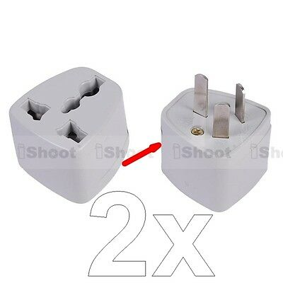 2 US UK EU Europe to AU NZ New Zealand CN AC Power Plug Adapter Travel Converter