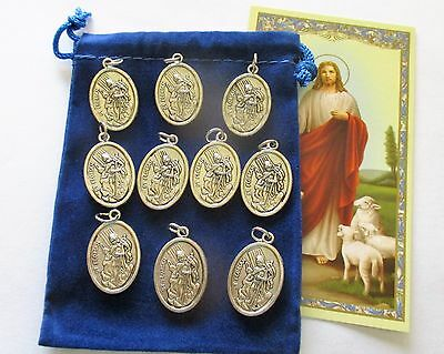 Wholesale Lot 50 New St. Florian Medals, Patron Saint of Firefighters, 2nd Style