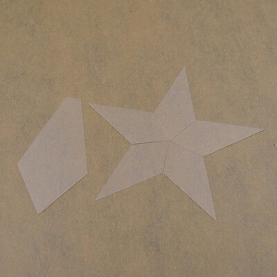 Five-pointed Star Patchwork Mould Transparent Frosted Plastic  DIY Quilt Craft
