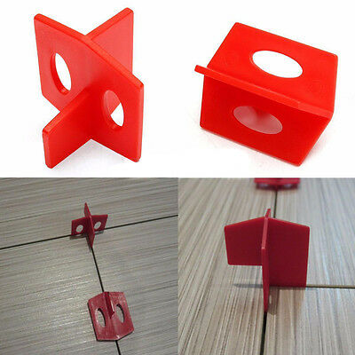 50PC 2mmTile Leveling System 3 Side Tile Spacers - Cross And T Floor Wall Tool