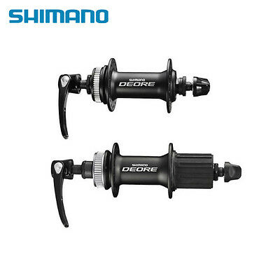 New Shimano DEORE M615 Front & Rear Hub Set 32 Holes with QR Black