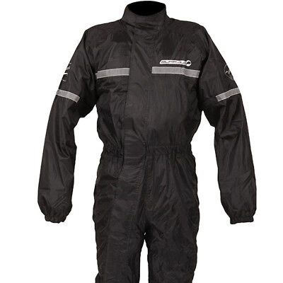 Buffalo Mistral Motorcycle Waterproof Lined One 1 Piece Rain Over Suit - Black