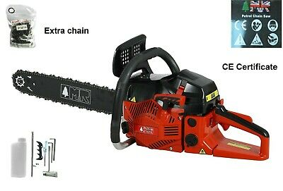 "Heavy Duty 58Cc 20"" Petrol Chainsaw Saw&Chain Cover 2.4Kw With Extra 16"" Chain"