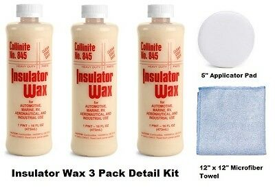 Collinite 845 Insulator Wax 3 Pack Detailing Kit FREE SHIPPING