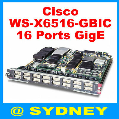 Cisco WS-X6516A-GBIC Switch Module for Catalyst 6000 6500 Series - 16-Ports Gbps