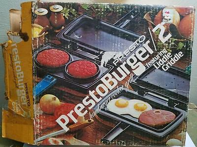 vintage presto prestoburger cooker hamburger liddle. Black Bedroom Furniture Sets. Home Design Ideas