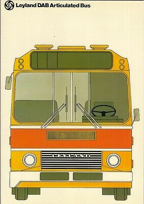 Leyland DAB Articulated Bus Late 1970s UK Market Foldout Sales Brochure