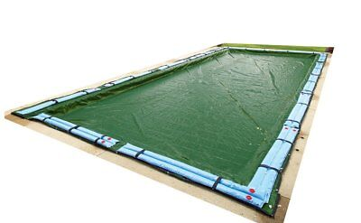 Winter Pool Cover Inground 14X28ft Rectangle Arctic Armor 12yr Warranty w/Tubes