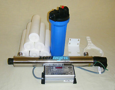 Sterilight UV water disinfection unit & pre-filter package