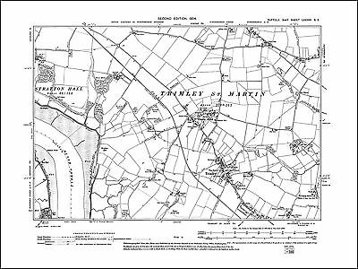 63SW repro Stanstead Glemsford old map Suffolk 1905