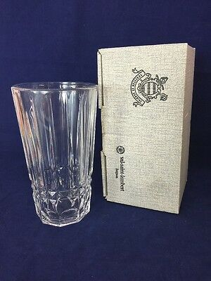 VINTAGE CRYSTAL CLEAR VAL ST. LAMBERT VASE With original box