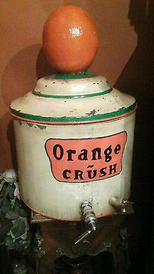 "Vintage Original Ward's Orange Crush Syrup Dispenser 22 "" Tall,  15 "" Wide."