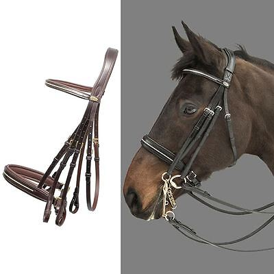 Mountain Horse Rubicon Removable Curb Soft Leather Padded Browband Multi Bridle