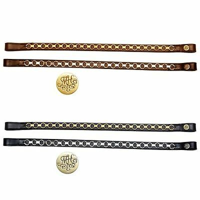 Mountain Horse Equestrian Chain English Leather Bling Jumping Riding Browband