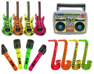 Inflatable Microphone Saxophone Guitar Boom Box Party Children Blow Up Toys Play