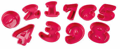 LARGE 25 x 20 CM SILICONE BAKING BIRTHDAY NUMBER MOULDS ANNIVERSARY CAKE PARTY