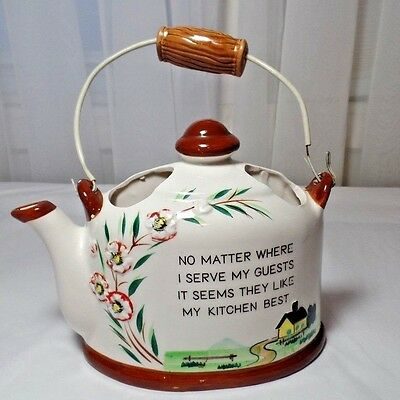 Norcrest Teapot Wall Pocket Made in Japan Antique P-155
