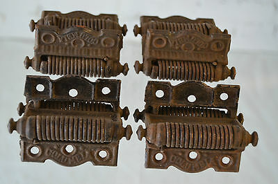 Set of 4 Dual Spring Screen Door Hinges Antique Vintage Factory Hardware