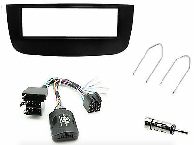 Kit Panel Fiat Punto Evo Glossy With Commands Steering Wheel E Din Antenna Keys