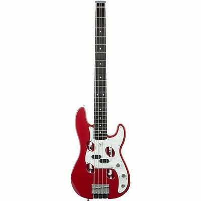 New Traveler TB-4P 4-String Electric Travel Bass Guitar, Red + Free Shipping