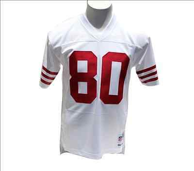 Jerry Rice  80 San Francisco 49ers Men s White Throwback Mitchell   Ness  Jersey f6141cfe0