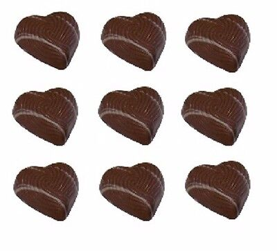 30 x Gourmet Peppermint Fondant Milk Couverture Chocolate Hearts - Wedding, Gift
