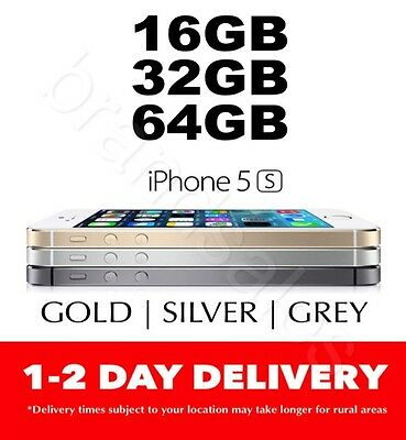 AS NEW Apple iPhone 5S 16GB 32GB 64GB 4G LTE 3 COLORS 100% Unlocked MR- AU