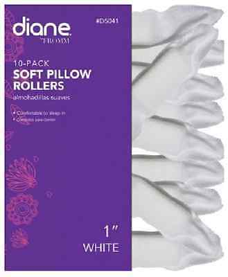 """Diane 10-Pack Soft Pillow Rollers 1"""" White #D5041"""