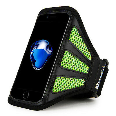 Green Mesh Workout GYM Sports Running Armband Case For Iphone 7 Plus & 6S Plus