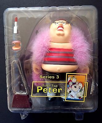"""Family Guy Tube Top Peter Griffin 6"""" Figurine 2005 Mezco Toys Series 3"""