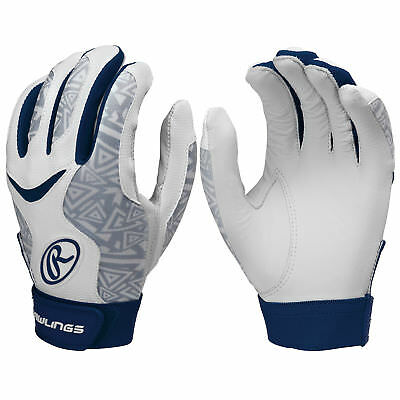 Rawlings Storm Women's Fastpitch Softball Batting Gloves - Navy - XL