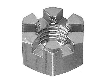 M6 Castle Nuts Sloted High Tensile Steel Zinc Plated