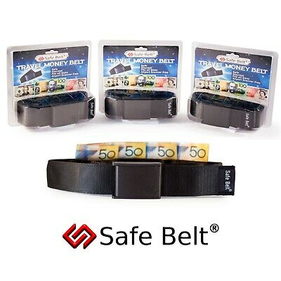 Money Belt Travel Wallet, Waist Pouch Hidden Pocket Safe Purse • Brand New • AUS