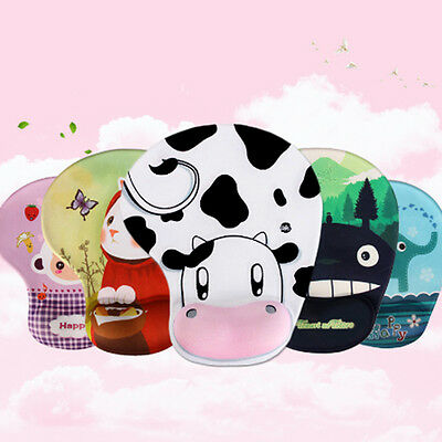 Cartoon Mouse Pad Skid Resistance Memory Foam Comfort Wrist Rests Mousepad Mats