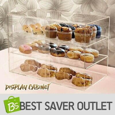 Deluxe Large Cake Bakery Muffin Donut Pastries Cabinet 5mm Acrylic Display