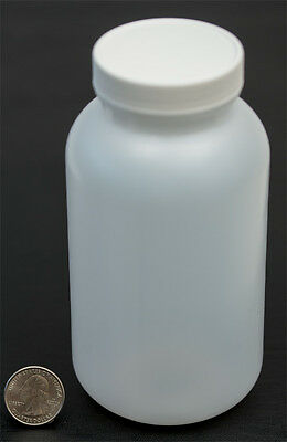 16oz 500ml Wide Mouth HDPE Bottle Jar with White Polyethylene Lined Cap Closure