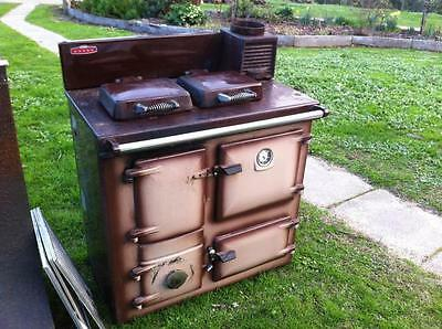 Rayburn Royal One Fire Stove With Copper Flu Kit + Range Hood Winter Warmer