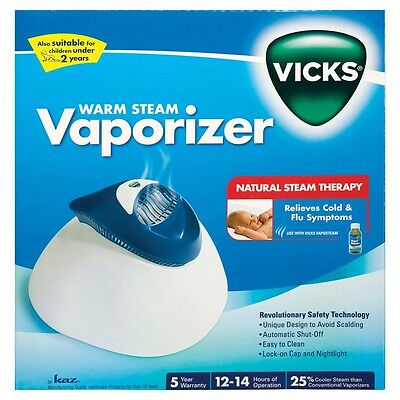 Vicks Warm Steam Vaporiser V188 CROUP ASTHMA COUGH BRONCHITIS FLU MUCOUS