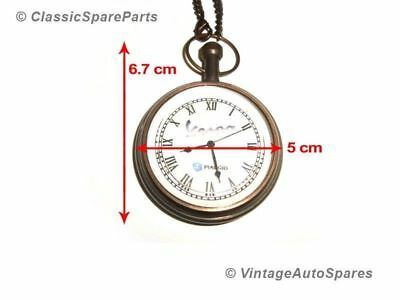 Antique Brass Pocket Watch With Chain For Vespa Piaggio Scooters