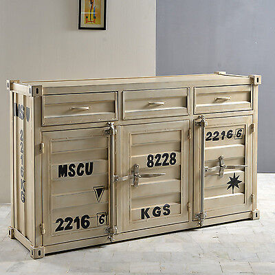 kommode 1 container sideboard anrichte in metall we eur 459 95 picclick de. Black Bedroom Furniture Sets. Home Design Ideas