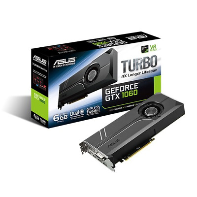 ASUS GeForce GTX 1060 6GB Turbo Boost Graphics Card