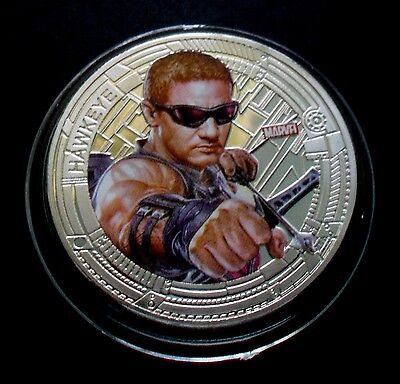 "New Zealand 2015 Silver Plate Marvel The Avengers ""hawkeye"" Coin"