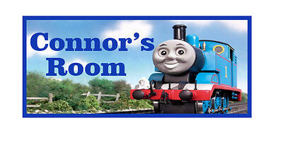 Thomas the Tank Engine personalised wooden door sign plaque any name gift idea