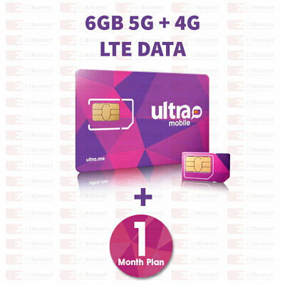 PreLoaded Ultra Mobile SIM Card with $29 Plan,1st Month Services included